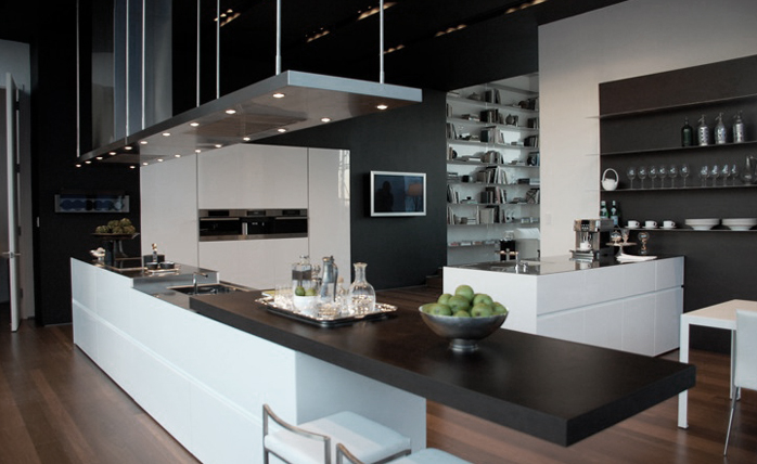 ... Opened Up To Serve As An Entertainment Table Or Closed To Hide The  Brushed Stainless Steel Countertop, The Soldered Sink And The Retractable  Faucet.