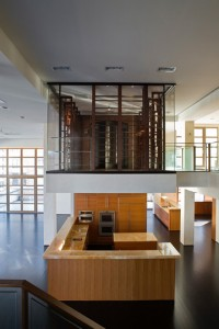 tribeca cantilevered wine + humidor