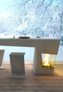 table+fireplace