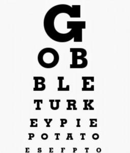 gobble eye chart