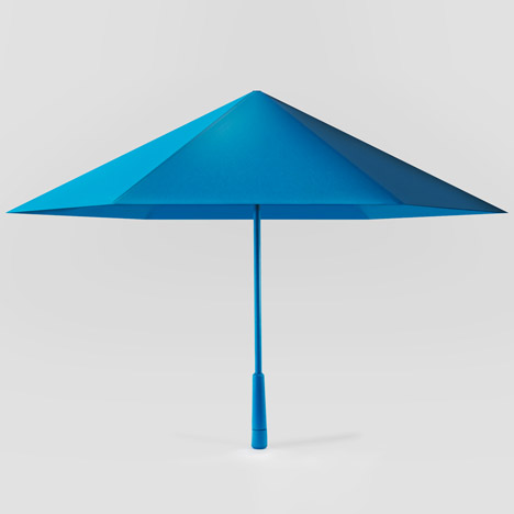Justin Nagelberg and Matthew Waldman's Sa umbrella bounces back into shape when blown inside-out...