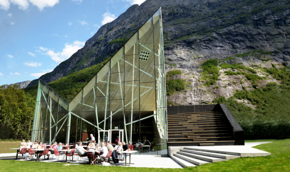 Troll Wall Restaurant and Visitor Centre, Møre og Romsdal, Norway