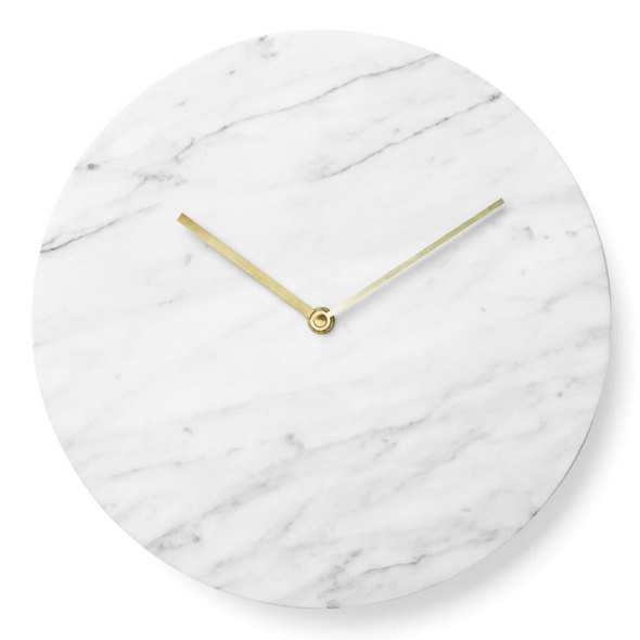 marble wall clock/norm architects for menu