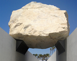 Levitated Mass, LA County Museum  of Art, Los Angeles/Michel Heizer