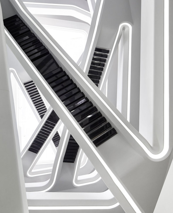 Dominion Office Building staircase, Moscow/Zaha Hadid Architects via