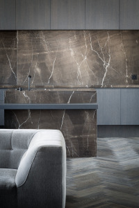 Interior design by Arjaan de Feyter. Photography by Thomas de Bruyne. Stone from Graniet en Marmer. via