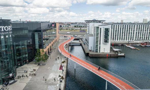 cykelslangen cycle bridge, denmark